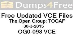 OG0-093 The Open Group Pass4suredumps Mar-2015 By Maple Pass Guide. http://dumps4free.com/download/OG0-093_The_Open_Group_Pass4suredumps_Mar-2015_By_Maple_Pass_Guide