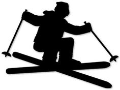 skier, vinyl wall decal-from Silhouette