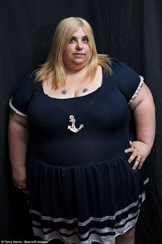 Sarah who works as a Big Beautiful Women (BBW) model says that she worries that losing weight will affect her career