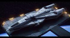 Star Wars Mandalorian Superlight Corvette by AdamKop
