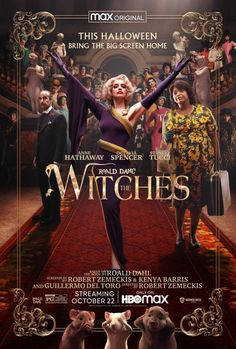 Las Brujas De Roald Dahl, The Witch Trailer, The Witch Movie, Witch Film, Roald Dahl Books, Trailer Peliculas, Stanley Tucci, Octavia Spencer, Foto Poster