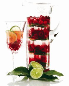 Raspberry lime water - refreshing after a body treatment or massage.