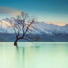 Lake Wanaka, South Island, New Zealand - beautiful colours in this photo ~