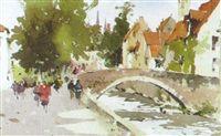 The Groenerei, Bruges by John Yardley