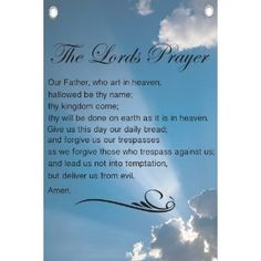 The Lords Prayer (The Our Father) - Religious Quotes - Wall Quotes Canvas Banner