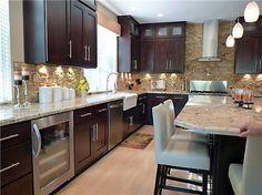 Shaker Chocolate Kitchen Cabinets