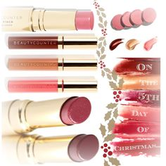 """12 Days of Christmas Gift Idea, Day 5: Make a Great Gift by Including a Color Pinch Cream Blusher, Lip Gloss, or a Lip Sheer to one of the Jet-Set Bags from """"Gift Idea, Day 4""""!  How About Stocking Stuffers?!  Shop: http://beautycounter.com/emilylejeune?goto=cosmetics.html #betterbeauty #switchtosafer"""
