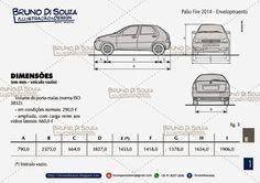 Envelopamento adesivagem - Fiat Palio 2014 - Bruno Di Souza