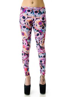 Zara Terez Day of the Dead Leggings. bought ones similar to these for GAGA!