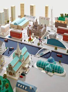 Hattie Newman's Delightful Paper Cities