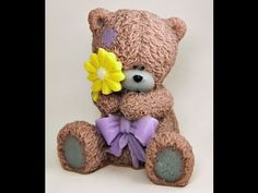 Мишка Тедди из полимерной глины - YouTube