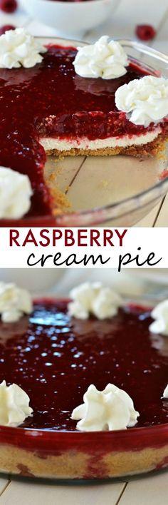 Just like GG's Raspberry dessert!! Raspberry Cream Pie