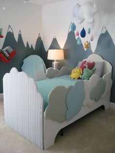 amazing bedroom done by GDC Home outside designer Jaime Fernandez   http://www.gdchome.com/designers  #cloud bed #kids room