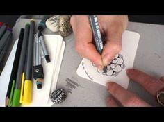 One Tangle Mandala Petals and Pearls - YouTube