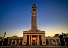 Memorial Clock Tower: The tradition is for a girl to be kissed under the clock tower at midnight...I had a rose petal path leading to a beautiful long stemmed bouquet. Forever LSU!!