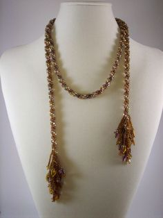 Seed Bead Lariat Necklace by Chris Maj