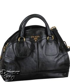 209172322b0ec Prada Handbag Black - Prada Handbag Black  Color  Black  Polished shine  calfskin with brass-tone hardware  Logo lettering at center front  Double  handles ...