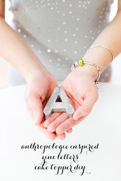 Anthropologie Inspired Zinc Letters DIY
