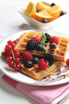 Light Orange Waffles. What if you can eat waffles and never feel guilty about it? This orange waffle recipe is light in calories and the taste will never reveal it.