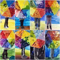 Väriympyrä, kollaasi, valokuvaus: sateenvarjoni.