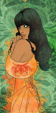 Horoscope for MINI Magazine by Varvara Gorbash, via Behance, Varvara Gorbash Cancer Zodiac Artwork