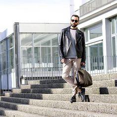 Garretleight Glasses, H&M Perfecto, Zara Top, Zara Trousers, Adidas Sneakers, Louis Vuitton Bag