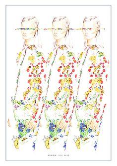 Mixed media fashion illustration- Erdem  by Nas Abraham  womenswear, artwork, fashion illustration, womens fashion, mixed media