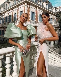 Glam Dresses, Elegant Dresses, Pretty Dresses, Beautiful Dresses, Classy Outfits, Chic Outfits, Fashion Outfits, High Fashion Dresses, Mode Kimono