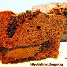 Nutella Stuffed Chocolate Pound Cake with Dark Chocolate Chips