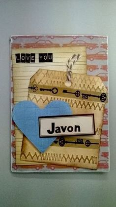 Javon Valentine - Scrapbook.com. Made Valentine Day cards for my nieces and nephews. I just had to send them a little love for Valentine's Day...TFL.