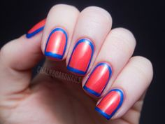 China Glaze Summer Neons Nail Art: Framed Manicure