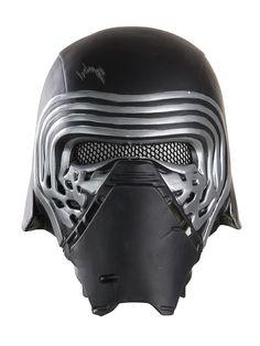 Maske von Kylo Ren! Der Helm des 'Bösewichts' aus Episode VII: Das Erwachen der Macht ist das Accessoire für Kostüme von Kindern, die sich für die dunkle Seite der Macht begeistern - oder wenigstens deren Outfits!