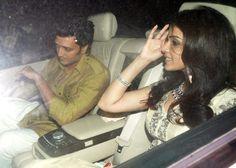 Riteish Deshmukh and Genelia D'souza at Shah Rukh Khan's Eid bash. #Bollywood #Fashion #Style