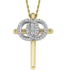 Diamond Christian Marriage Symbol Cross Necklace: The Christian Marriage Symbol is a powerful way to express your everlasting love and enduring faith. Interlocking circles symbolize your marriage. The cross bears witness to your faith. Three beautiful diamonds celebrate your past, present, and future together.  Your Christian Marriage Symbol will become a daily inspiration in your life and a meaningful personal treasure to enjoy forever.