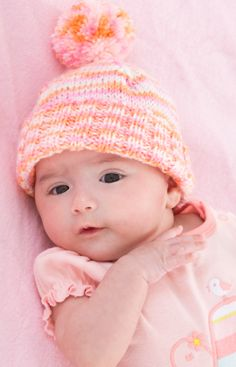Baby's First Hat Free Knitting Pattern from Red Heart Yarns