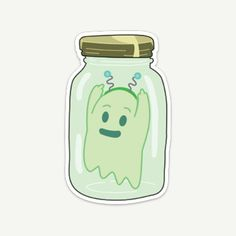 Rick and Morty Ghost in a Jar Die-Cut Vinyl Sticker Meme Stickers, Printable Stickers, Laptop Stickers, Rick And Morty Drawing, Rick And Morty Tattoo, Ricky Y Morty, Rick And Morty Stickers, Mini Doodle, I Love School