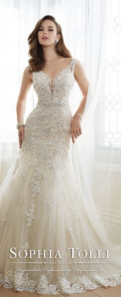 Could this be customized to be strapless? Sophia Tolli Spring 2016 Wedding Dress