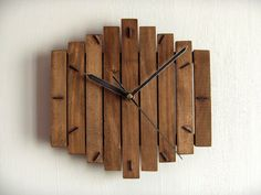 Wooden wall hanging clock wood walnut old by Paladim on Etsy, $29.00