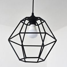 Make a trendy geometric pendant light fixture for under $10! Geometric Pendant Light, Diy Pendant Light, Pendant Light Fixtures, Pendant Lighting, Decor Styles, Decorating, Diy Projects, Cottage, Christmas Decorations