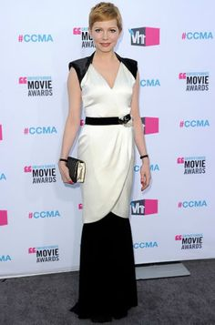 Michelle Williams 2012 Critics' Choice Awards #celebrities #celebrityfashion #redcarpet