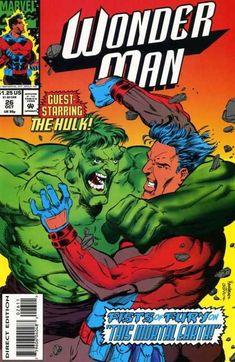 Wonder Man Vol. 2 # 26 by Tim Hamilton & Brad Joyce Wonder Man, Human Torch, Marvel Characters, Comic Covers, Hulk, Marvel Comics, Avengers, Comic Books, Superhero