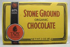 Taza Chocolate 60% Dark Stone Ground Organic Chocolate 3 oz. available at Taylors Market gourmet grocery store