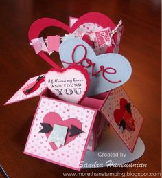 Heart Card in a Box -  Sandra Hanedanian,  if you are interested... I'll have pic by pic instructions on my blog ... TFL!!