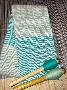 Chevron, Aqua, Coups, Loom, Weaving, Fabrics, Patterns, Tableware, Colors