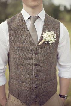 Rustic groom style - Wedding look