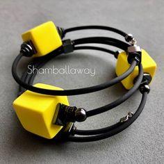 Rubber Material, Cord Bracelets, Polymer Clay Jewelry, Popsugar, Mj, Earrings, Projects, Bracelets, Leather