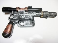 custom painted Hans Solo costume gun