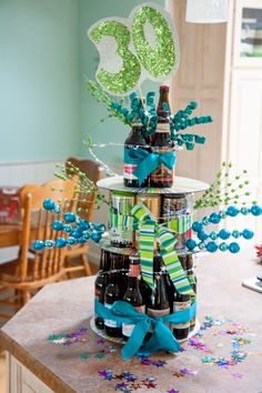 Have a beer lover in your life? Then this birthday beer cake is a great gift! Learn how to make a birthday beer cake tower. Beer Cake Gift, Beer Bottle Cake, Beer Can Cakes, 17 Birthday Cake, 17th Birthday, Birthday Beer, Liquor Cake, Cake In A Can, Cake Tower