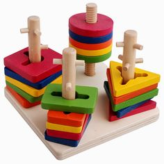 Many toy educational baby toy column shape rings building blocks 1 2 years old…, - Kids&Baby Toys Wooden Baby Toys, Wood Toys, Educational Toys For Kids, Learning Toys, Discovery Toys, Toys For 1 Year Old, Stacking Toys, Baby Blocks, Montessori Toys