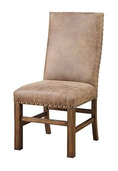 Emerald Home D412-20-2PK-K Chambers Creek RTA Side Chair with Nail head and Fully Upholstered, 2 Pack